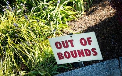Als de bal Out of Bounds is